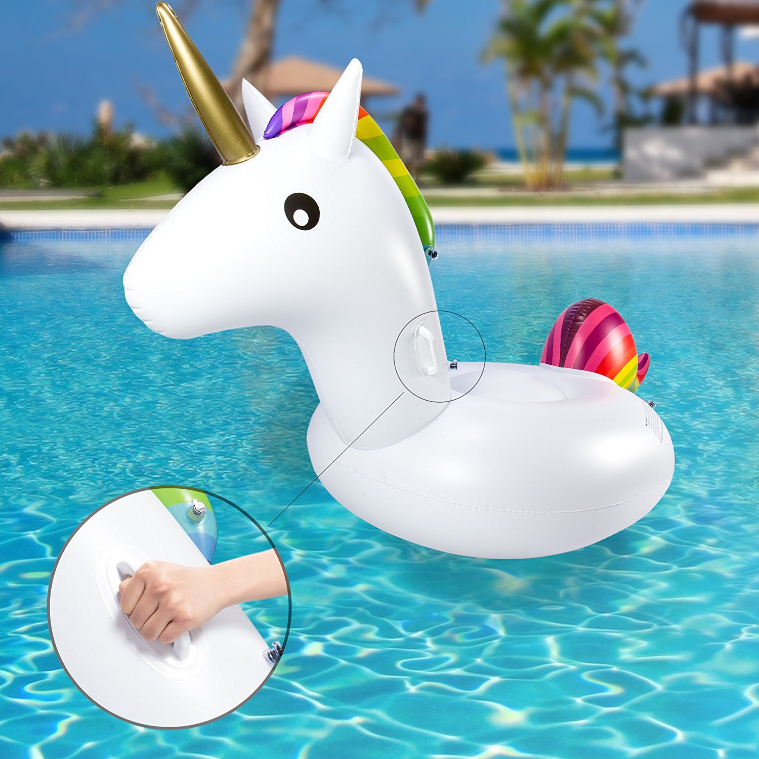 Inflatable small unicorn